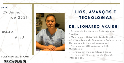 DR. LEONARDO AKAISHI NO 4º SEMINÁRIO JOSÉ BELMIRO 2021 CATARATA